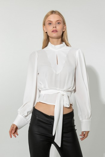 BLOUSE WITH OPEN BACK