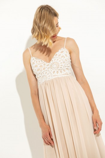 MAXI CHIFFON OCCASION DRESS
