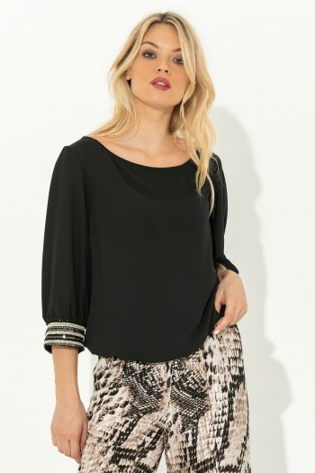 CHIFFON BLOUSE WITH EMBELLISHMENT