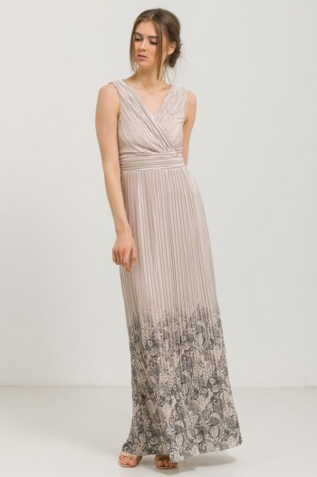 OCCASION SATIN PLEATED DRESS