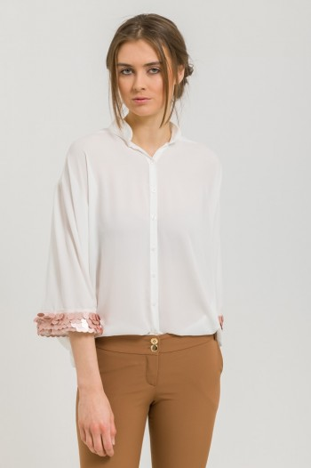 OVERSIZED BLOUSE WITH  SEQUINS