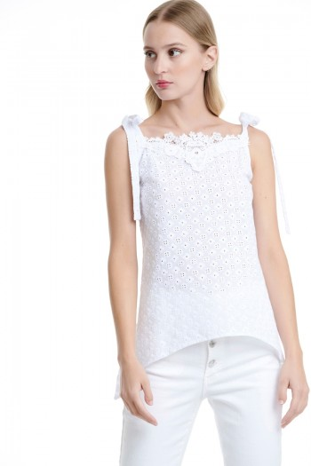 STRAP BRODERIE TOP