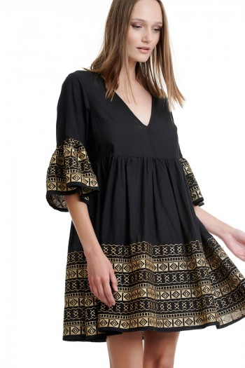 EMBROIDERED BOHO DRESS