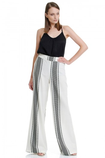 BOHO STRIPED WIDE LEG PANTS