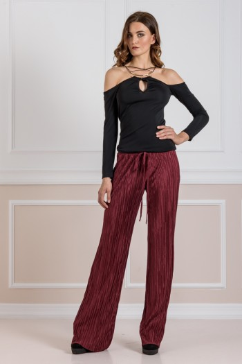 EVE KAY PLEATED WIDE LEG PANTS