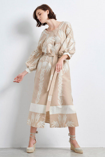 JACQUARD BOHO SHIRT DRESS