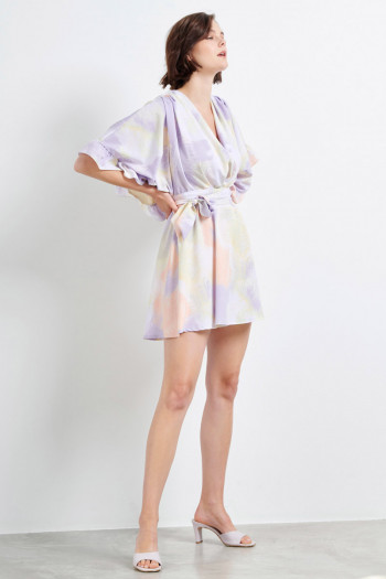 KIMONO SLEEVES MINI DRESS