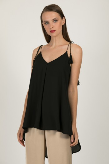 LONG CHIFFON HIGH LOW TOP
