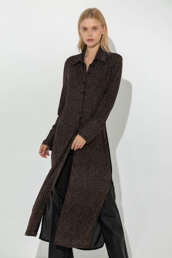 LONG LUREX CARDIGAN