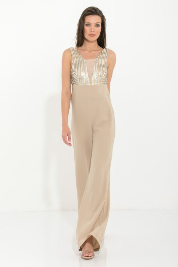 JUMPSUIT WITH SEQUINS