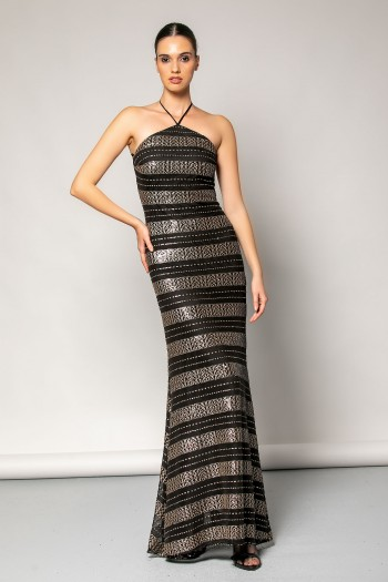 MAXI EVENING SEQUIN DRESS