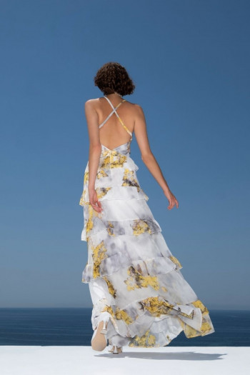 OCCASION PRINTED MOUSSELINE MAXI DRESS